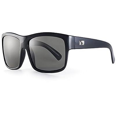 Sundog Connoisseur Frame with Polarized Lens, Shiny Black with Smoke