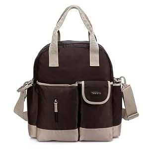 colorland brown 4 way baby changing nappy bag backpack tote shoulder bag and cross body bag. Black Bedroom Furniture Sets. Home Design Ideas