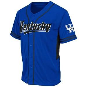 NCAA Kentucky Wildcats Men's Bullpen Baseball Jersey, Large, Royal