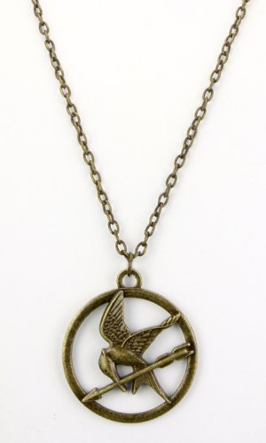 41l3qMFhcIL The Hunger Games Movie Necklace Single Chain Mocking Jay