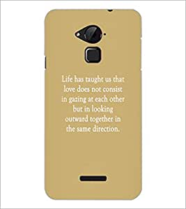 PrintDhaba Quote D-3952 Back Case Cover for COOLPAD NOTE 3 LITE (Multi-Coloured)