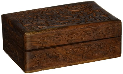 New Age Floral Design Handcrafted Wooden Box