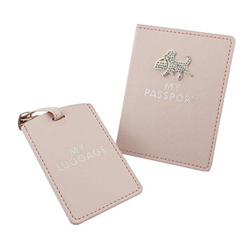 """Sophia """"Pretty in pink Custodia per passaporto e targhetta del bagaglio"""