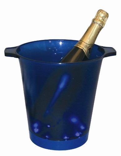Seau à Champagne Bleu Lumineux, avec 2 poignées