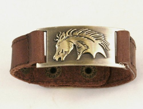 Horse Leather Bracelet, Adjustable