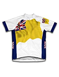Niue Flag Short Sleeve Cycling Jersey for Women