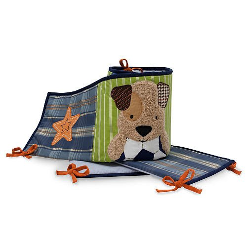 Lambs & Ivy Bow Wow Bumper front-1069675