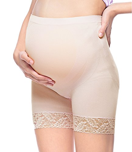 Intimate Portal Women Over the Bump Maternity Seamless Underwear Boyshorts Panties
