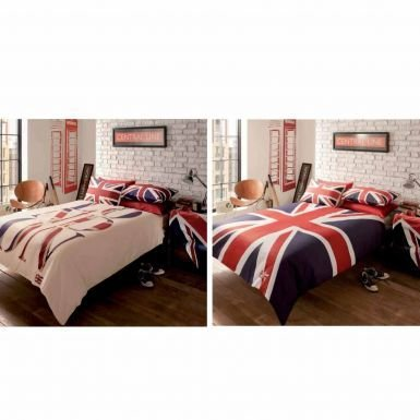 London & Union Jack Reversible King Size Comforter Cover Set (British Flag Bedding compare prices)