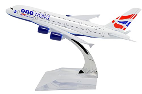 TANG DYNASTY(TM) 1:400 16cm Air Bus A380 British Airways Metal Airplane Model Plane Toy Plane Model (British Airways Model compare prices)