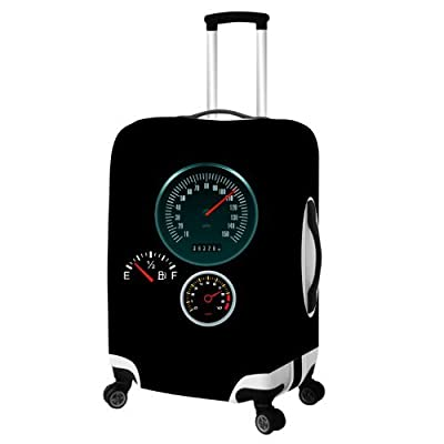 Generic Wheeled Duffel Bag Luggage Suitcase Protector Cover L Black by Tech-engine