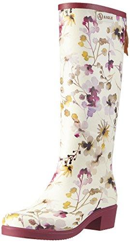 AigleMiss Juliette Print - Stivali da pioggia al ginocchio Donna , Multicolore (Multicolore (Wildflower)), 36 EU