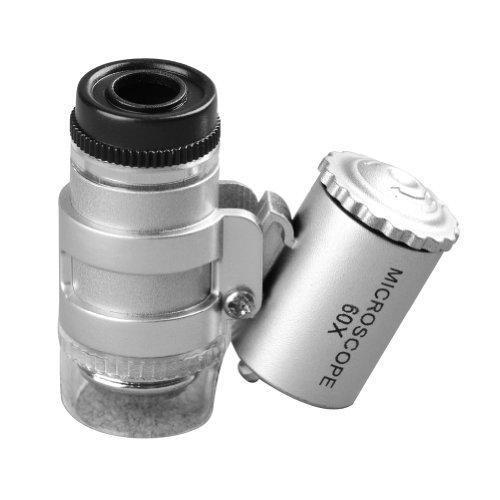 Mg10081-4A 60X Jewelry Magnifier Led Illumination Mini Loupe Pocket Microscope