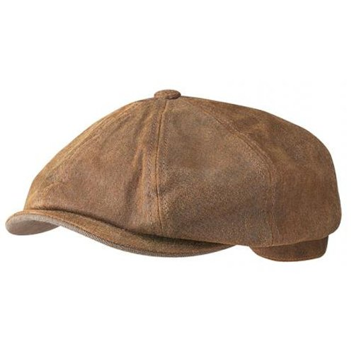 Nauticalia Stetson Classic Leather Cap, large