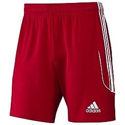 adidas Performance Men\'s Squad 13 Shorts, Power Red/White, Large