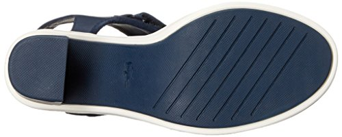 Lacoste Women's Lonelle High Heel Sandal, Navy, 7 M US
