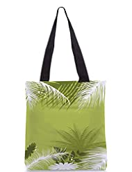 Snoogg Palm Tree With Flower Designer Poly Canvas Tote Bag