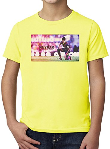 Neymar JR Da Silva Santos Junior Ultimate Youth Fashion T-Shirt by True Fans Apparel - 100% Organic, Hypoallergenic Cotton- Casual Wear- Unisex Design - Soft Material 5-6 years