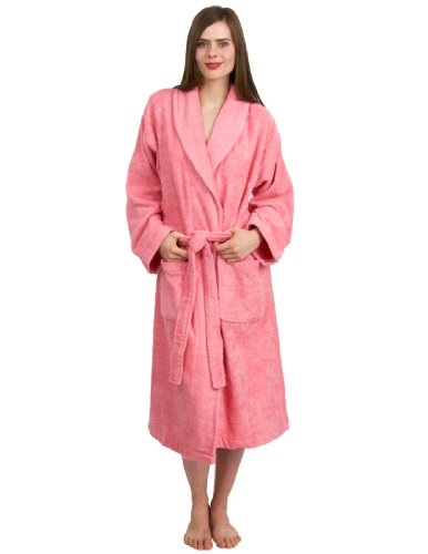 TowelSelections Turkish Cotton Terry Bathrobe Shawl Collar Robe Made in Turkey