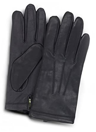 UR Men's Tech Leather Fleece Glove, Black, Small