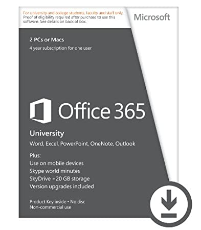 Microsoft Office 365 University 4-year Subscription (Student Validation Required) [Download]