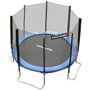 Ultrafit Jumper Cama Elástica 305 cm incluyendo la red de seguridad / 4 pies -Última norma de seguridad modelo 2012 - hasta 180 kg