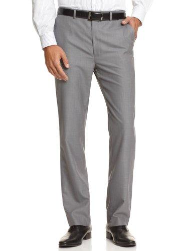 Calvin Klein Ck Slim Fit Dress Pants 34 X 30 Gray Flat Front Trousers 34/30
