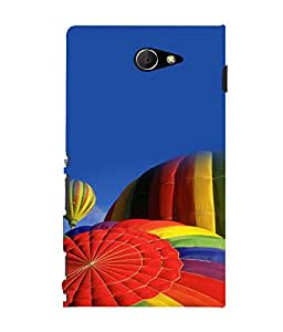 printtech Hot Air Balloon Colored Back Case Cover for Sony Xperia M2 Dual D2302::Sony Xperia M2
