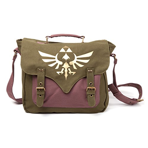 Bioworld - Sac À Bandouillère The Legend Of Zelda - Verde Canvas Golden Triforce - 8718526050356