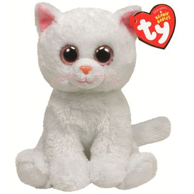Ty Beanie Baby Bianca Plush - White Cat