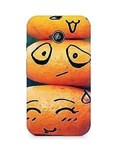 Amez designer printed 3d premium high quality back case cover for Motorola Moto E2 (Funny Stones)