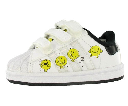 adidas Originals Little Kid/Big Kid Superstar 2 Mr. Happy Sneaker,Sun/Black/White,5 M US Toddler