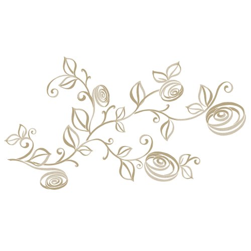 RoomMates RMK2434SCS Stylized Roses Peel and Stick Wall Decals, 1-Pack - 1