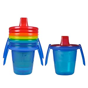 The First Years Take & Toss Spill-Proof Sippy Cups with Removable Handles, 7 Ounce, 4 Pack