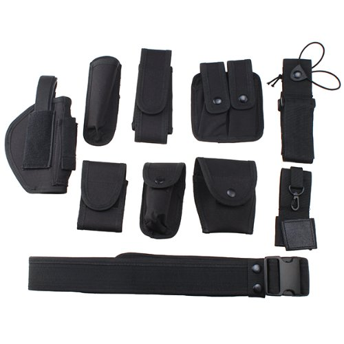 Best Review Of AceList? Police Security Durable Tactical Combat Gear Black Utility Nylon Duty Belt