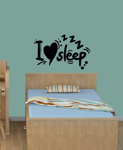 Wall Vinyl Decal Sticker Art Design I Love Sleep Inscription Room Nice Picture Decor Hall Wall Chu937 back-1073689