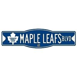NHL Toronto Maple Leafs Sign, 4.5 x 17-Inch