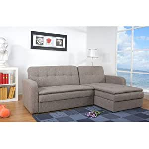Amazoncom denver sectional sleeper sofa color rind for Sectional sleeper sofa denver