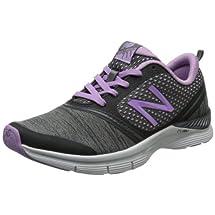 New Balance Women's WX711 Cross-Training Shoe,Black/Purple,8 B US