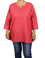 Indian Kurti Top Womens Comfortable Airy Clothes For Summer - B00X9KLFD4