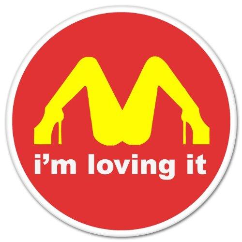 I'M Loving It McDonald's Funny car bumper sticker window decal 4