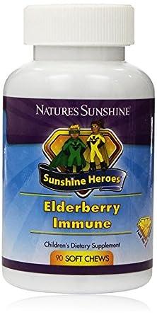 buy Natures Sunshine Elderberry Immune Sunshine Heroes (90 Soft Chews)