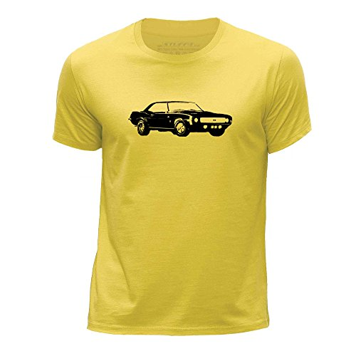 stuff4-boys-age-5-6-110-116cm-yellow-round-neck-t-shirt-stencil-car-art-camaro-ss-mk1
