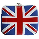 UNION JACK DESIGN NEOPRENE 10 LAPTOP/ TABLET/ NOTEBOOK CARRY CASE - FOR IPAD IPAD 2 TOUCHPAD GALAXY 10.1 ETC PART OF THE QUBITS ACCESSORIES RANGEby Qubits