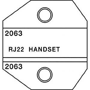 buy paladin tools 2063 rj22 handset die for crimpall 8000 1300 series online at low prices in. Black Bedroom Furniture Sets. Home Design Ideas