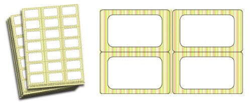Rhubarbe rayures étiquettes pour bocaux de confiture Lot de 63)