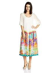 Quirk Box Women's Gorgette Tunic Dress (QRW4MGKD - XS_Multi-Color)