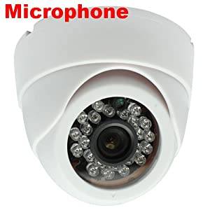 Brand New GW Security Professional 600TVL Indoor Dome Security Camera with Microphone Built In - 1/3