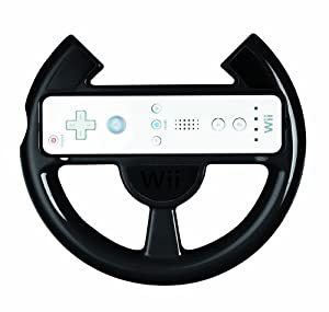 Official Nintendo Wii Comfort Racing Wheel - Black