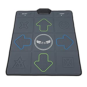Dance Dance Revolution Dance Pads USB HD Wireless Single Hand Dance Mat Dual-purpose Massage Slimming Dance Machine for PC/ TV/ PS2/ PS1/ Wii/ Xbox